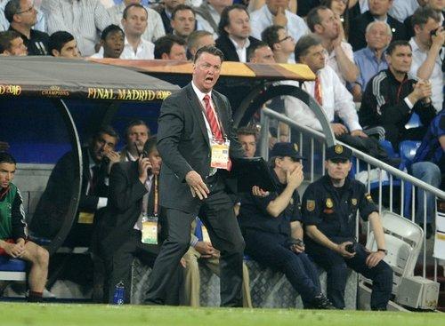 图文:欧冠决赛国米2-0拜仁 范加尔神情古怪