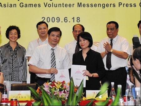 广之旅签约广州亚运 亚运志愿信使团月底启动