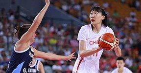 中国女篮热身大胜阿根廷