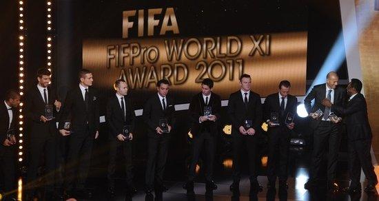 2011年度世界最佳阵容 三豪门包揽巴萨5顶星