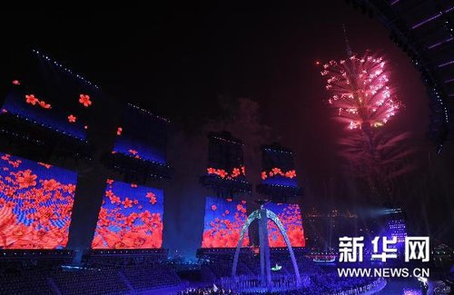 红棉花开独特方式熄灭圣火 与08奥运异曲同工
