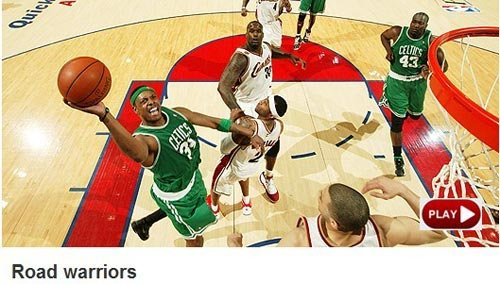 NBA官网:绿军客场变勇士 KG豪言第六场晋级