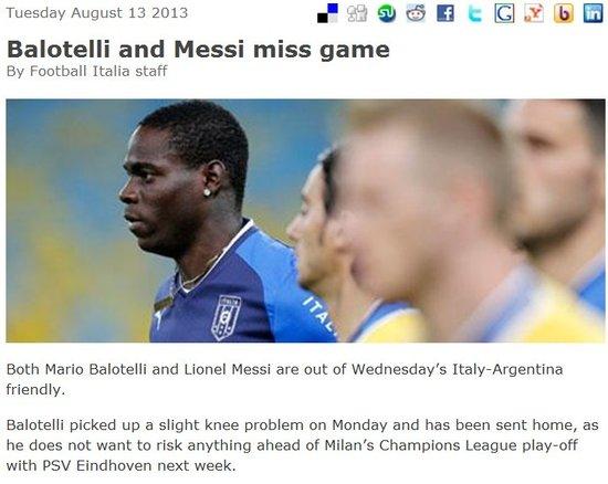 巴萨宣布梅西因伤无缘战意大利 巴神也缺席