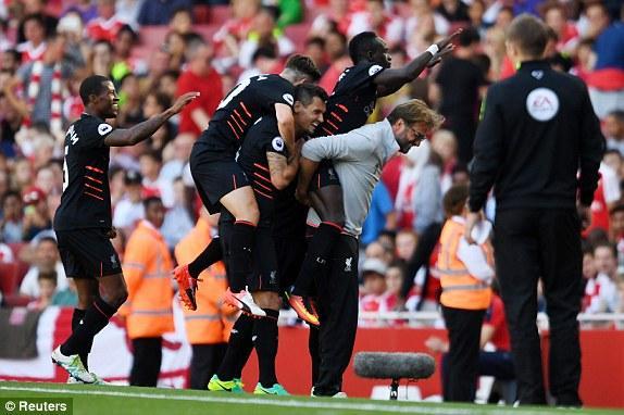 英超-刺激!利物浦4-3逆转阿森纳 库鸟进2球