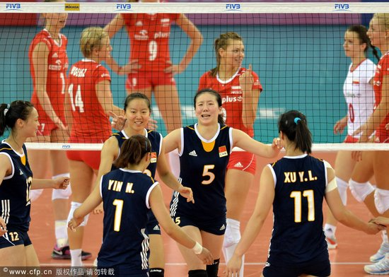 中国女排3-1力克波兰 大奖赛8连胜锁定总决赛