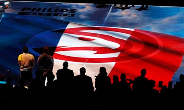 独家直击-老鹰主场祈福巴黎 法国中锋感谢NBA
