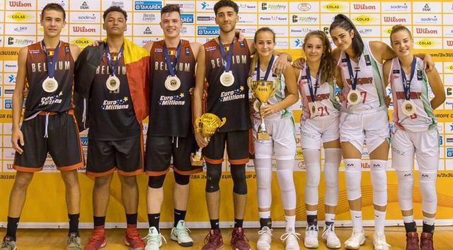 U18欧洲杯-比利时夺男篮冠军 匈牙利女篮登顶