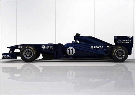 威廉姆斯新车FW33亮相 平庸设计采用过渡涂装