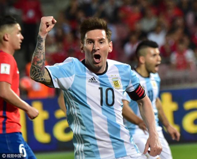 世预赛-阿根廷2-1逆转智利 梅西复出天使建功