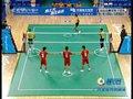 视频:藤球男子团体 第三盘第二局开球