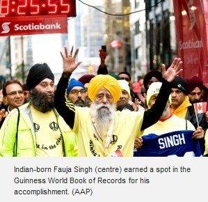 百岁老人完成马拉松比赛 创造吉尼斯世界纪录