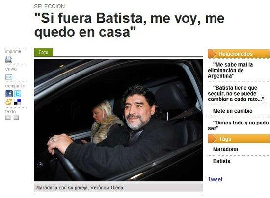 老马:巴蒂斯塔别再丢人 担心梅西退出国家队