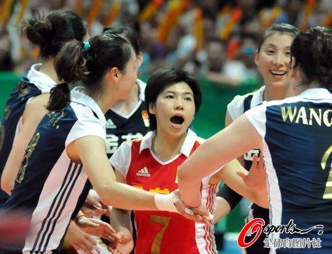 女排3-1力克日本 大梅独得24分总决赛获首胜