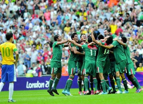 墨西哥男足在伦敦奥运会击败巴西夺冠