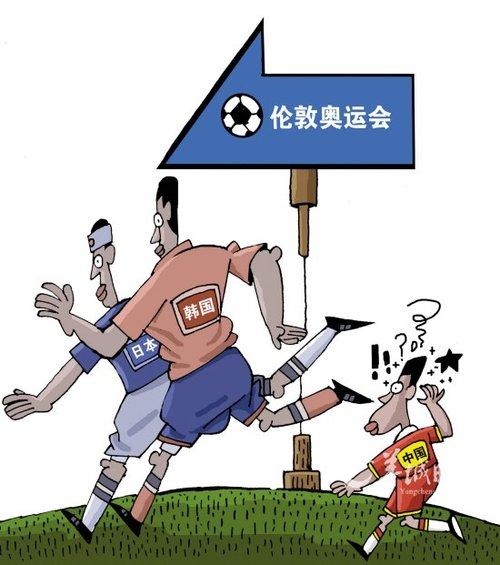 漫画亚运:中国国奥离伦敦奥运会究竟有多远