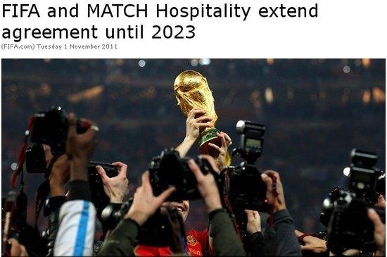 国际足联吸金再施猛手 2018年世界杯将赚3亿
