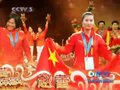 视频:2010广州亚运会闭幕 冠军墙展健儿本色