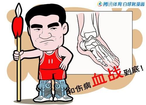漫画:姚明成功完成手术 变身硬汉与病魔抗争图片