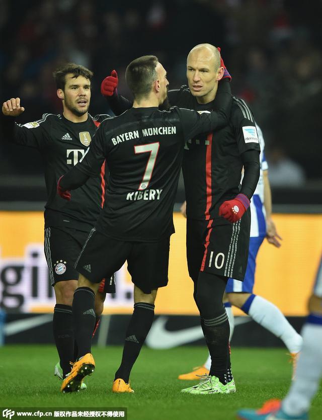 德甲-罗本世界波绝杀拜仁1-0胜 13轮仅失3球