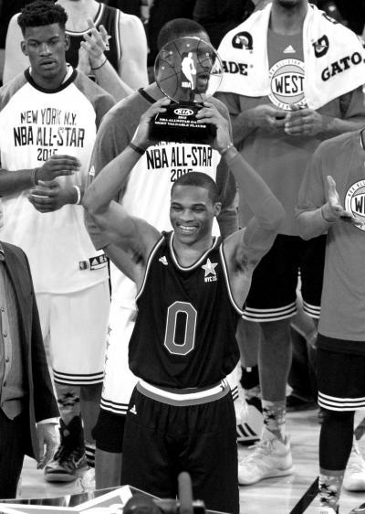 多项纪录被破威少MVP 全明星赛变身得分盛宴