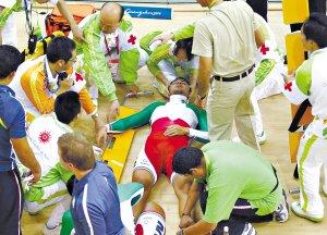 男子自行车凯琳赛再撞车 伊朗选手颈部受重伤