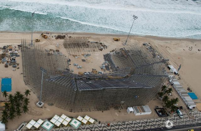 里约沙排场馆施工被迫停息 奥运建立再成隐患