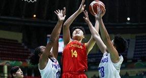 女篮亚洲杯中国胜菲律宾
