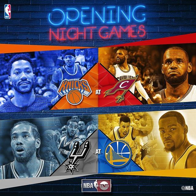 NBA2016-17赛季赛程出炉