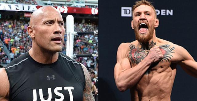 康纳言行引起The Rock关注:他就是年轻时的我_体育_腾讯网
