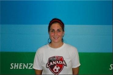 加拿大足球女将Mobilio参加大运的双动力