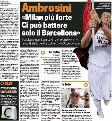 米兰队长惊人表态 超级杯在北京不如在意大利