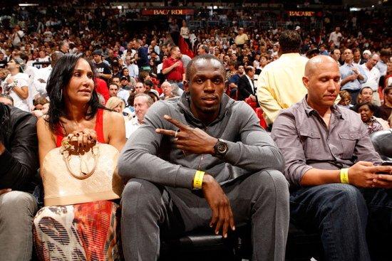 NBA揭幕战引名人观战 闪电博尔特助阵詹姆斯