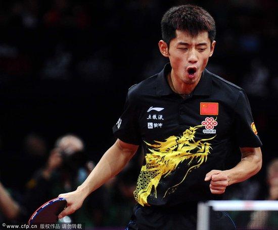 男单决赛刘国梁精彩解说 点出张继科赢在腿上
