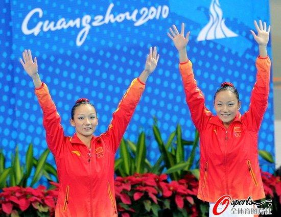 亚运花游双人文婷姐妹卫冕 日本第二韩国摘铜