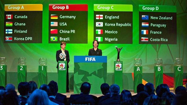 U20女足世界杯抽签揭晓 中德美巴造死亡之组