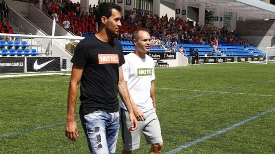 Busquets: Nou Camp debut was nervous to become coach
