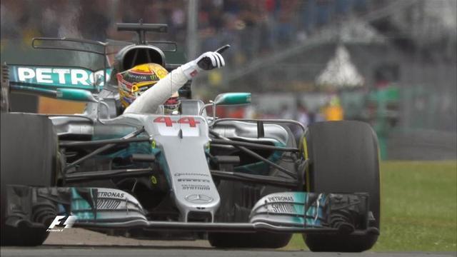 F1英国站:小汉主场4连冠 维特尔爆胎获第7