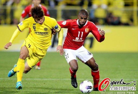 亚冠-柏太阳神0-0广州恒大 穆里奇郜林失良机