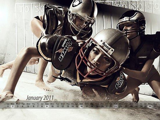 《型动》第23期壁纸下载 2011年月历1-3月