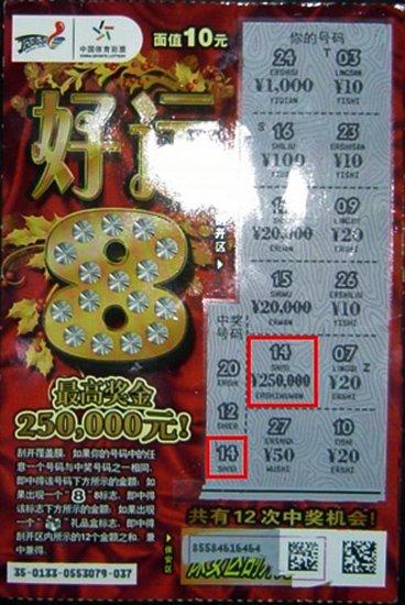"""业主大力推荐 内蒙彩民揽""""好运8""""25万(图)"""