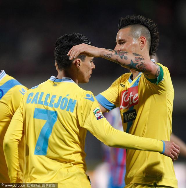 意甲-那不勒斯4-2胜卡塔尼亚 萨帕塔梅开二度