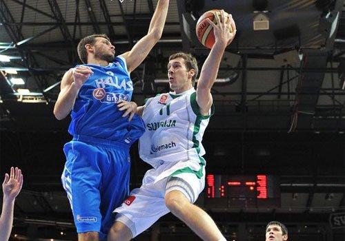 德拉季奇仅9分难救主 斯洛文尼亚遭希腊逆转