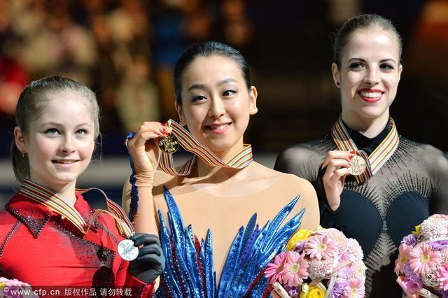 花滑世锦赛女单浅田真央夺第三冠 李子君第17