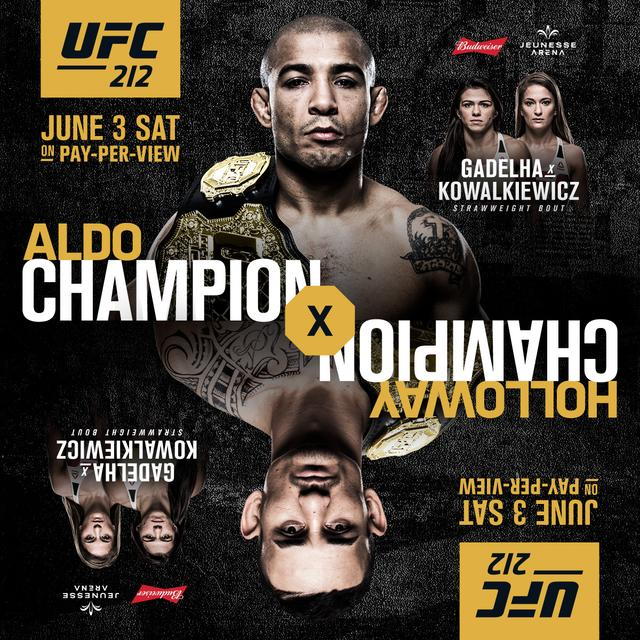 UFC212前瞻:奥尔多VS霍洛威羽量级冠军统一战