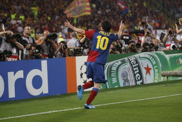 率队跻身欧冠决赛,2011年5月28日,巴萨在新温布利球场再次对阵曼联.图片