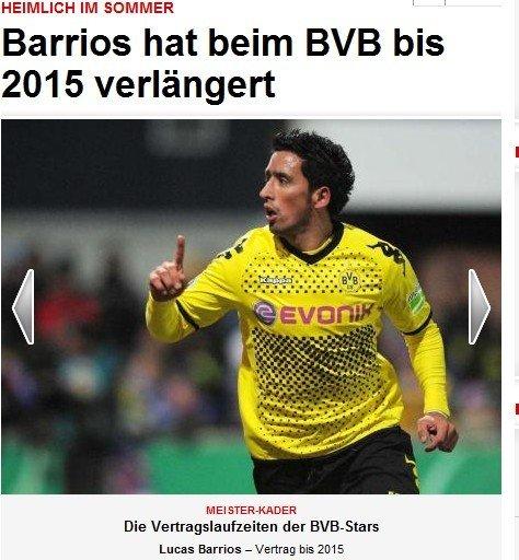 巴里奥斯否认加盟恒大 与多特蒙德续约至2015