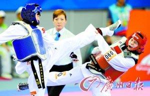 广州亚运会跆拳道比赛共收获4金 中国队成绩超越多哈亚运会