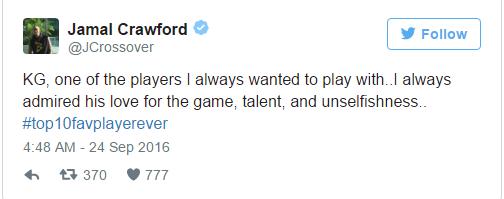 NBA众星致敬加内特 詹皇:一直都受到你激励