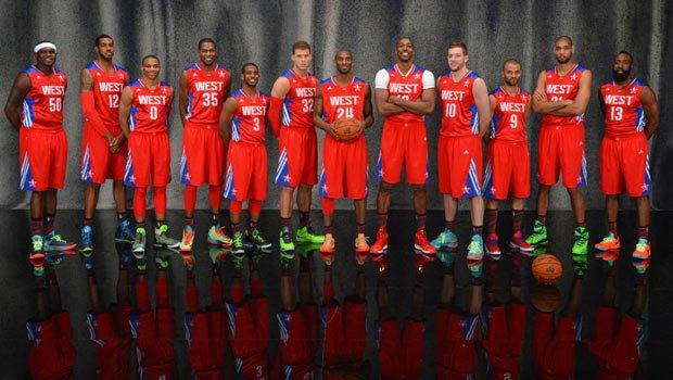 2013年NBA全明星正赛定妆照