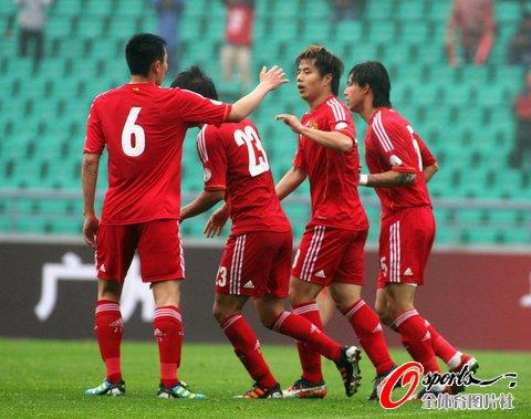 世预赛-国足最后一战3-1约旦 蒿俊闵梅开二度